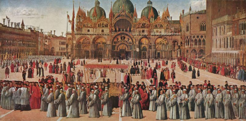 Early Renaissance artists - Gentile Bellini The Procession of the Cross